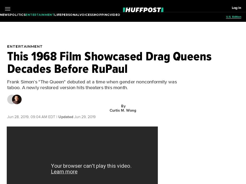 This 1968 Film Showcased Drag Queens Decades Before RuPaul And 'Pose'