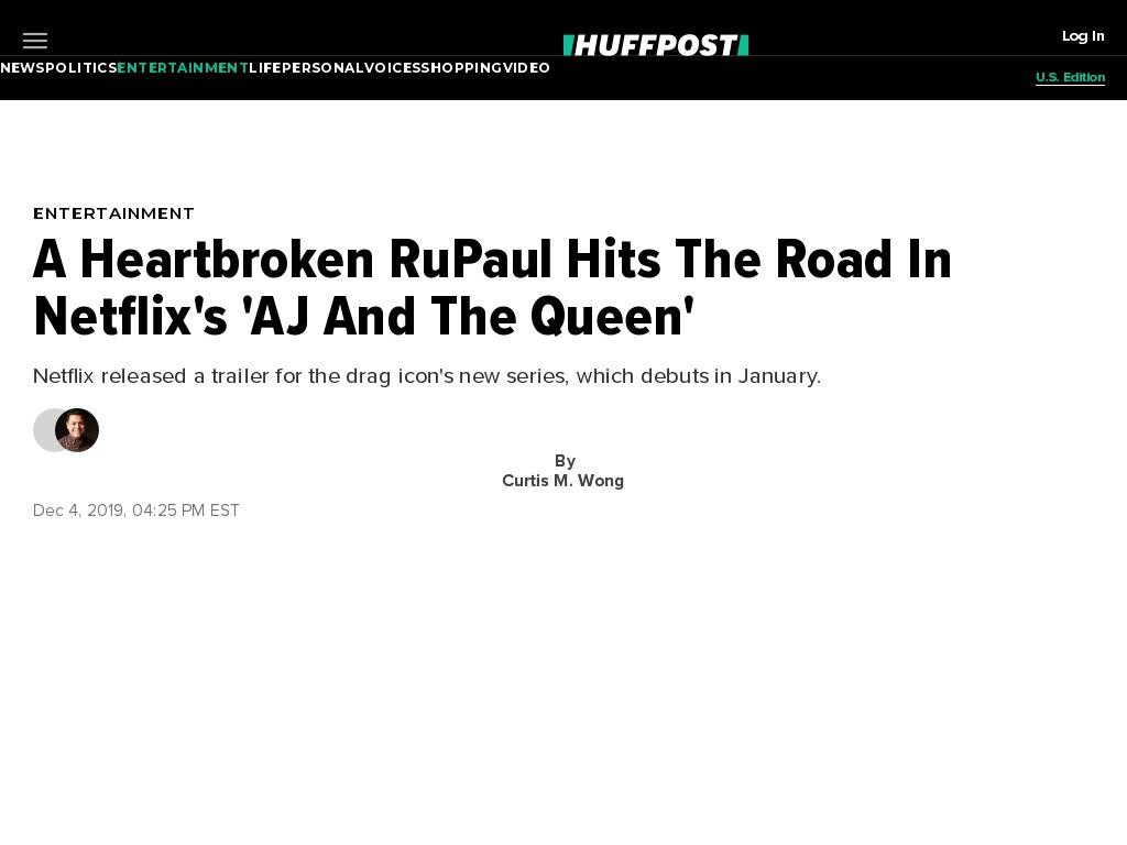 A Heartbroken RuPaul Hits The Road In Netflix's 'AJ And The Queen'
